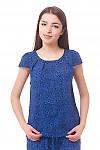 Топ в ярко-синие розы Деловая женская одежда