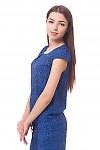 Купить топ в ярко-синие розы Деловая женская одежда