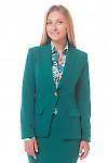 Жакет удлиненный женский зеленый  Деловая женская одежда