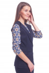 Купить жилет синий удлиненный Деловая женская одежда