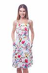 Белый сарафан на тонких бретелях Деловая женская одежда фото