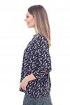 Купить черную блузку с капелькой Деловая женская одежда фото