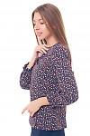 Купить блузку с резинкой на рукавах Деловая женская одежда фото