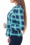 Блузка в клетку Деловая женская одежда фото