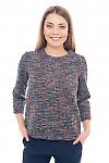 Джемпер теплый меланжевый Деловая женская одежда фото