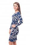 Купить платье темно-синее трикотажное в цветДеловая женская одежда фото
