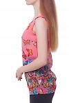Купить топ розовый в разноцветные бабочки Деловая женская одежда фото