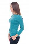 Купить бирюзовую трикотажную тунику Деловая женская одежда фото