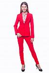 Деловой женский красный костюм