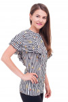 Купить полосатую блузку с рюшами Деловая женская одежда фото