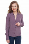 Блузка в бордовые квадратики Деловая женская одежда фото