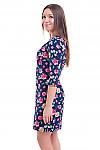 Купить льняное платье с цветами Деловая женская одежда фото