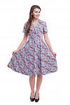 Купить платье миди летнее в сиреневые ромашки Деловая женская одежда фото