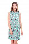 Платье льняное с одним защипом на груди Деловая женская одежда фото
