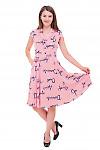 Купить платье в красную полоску и пышной юбкой Деловая женская одежда фото