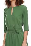 Купить зеленое платье с посом Деловая женская одежда фото