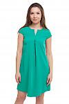 Платье зеленое со складочкой Деловая женская одежда фото