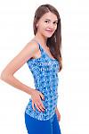 Купить топ синий с буквами Деловая женская одежда фото