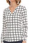 Фрагмент клетчатой блузки Деловая женская одежда фото