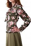 Купить блузку с бантом Деловая женская одежда фото