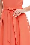 Фрагмент кораллового платья Деловая женская одежда фото