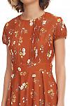 Фрагмент коричневого платья Деловая женская одежда фото