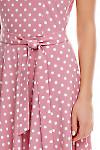 Фрагмент розового платья в горох Деловая женская одежда фото