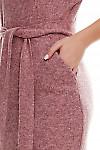 Фрагмент розового платья Деловая женская одежда фото