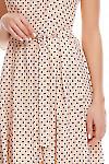Фрагмент платья в горох Деловая женская одежда фото