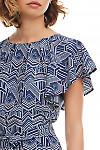 Фрагмент синего платья Деловая женская одежда фото