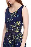 Платье в цветочки Деловая женская одежда фото