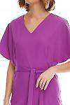 Фрагмент сиреневого платья Деловая женская одежда фото