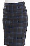 Фрагмент клетчатой юбки Деловая женская одежда фото